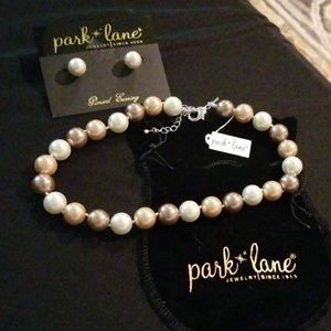 Park Lane Large Pearl Necklace and Earrings Set♡